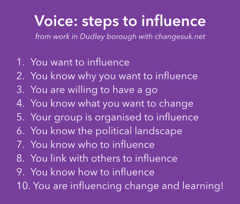 Voice: steps to influence