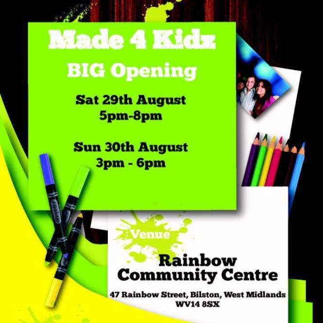 Made 4 Kidz Big Opening flyer