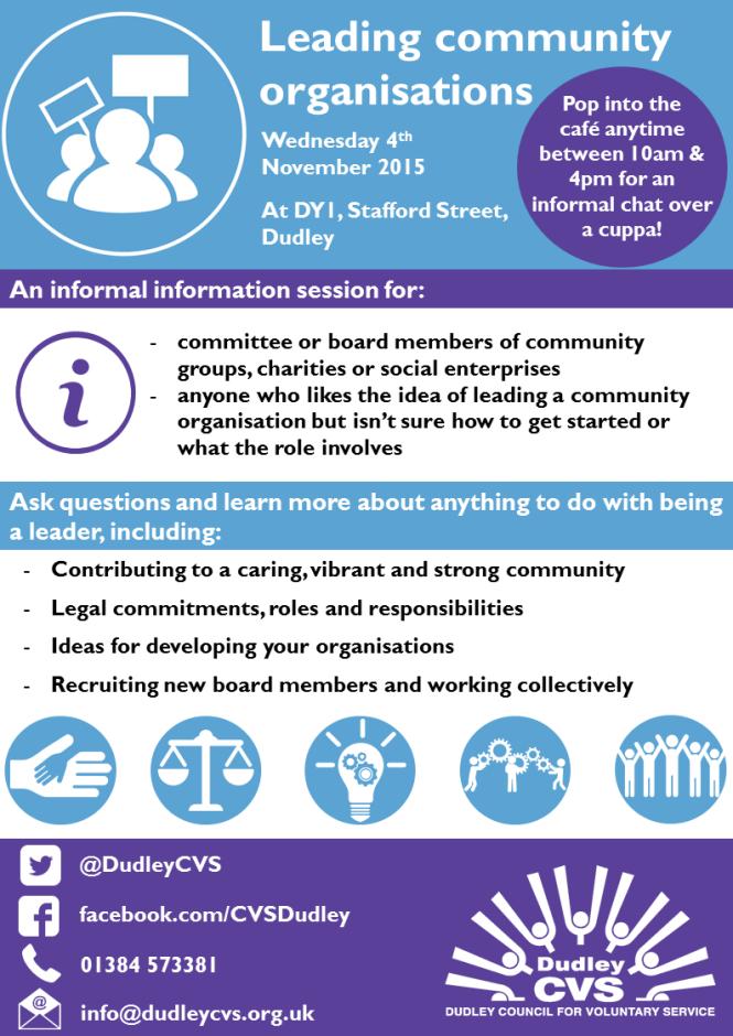 Leading community organisations