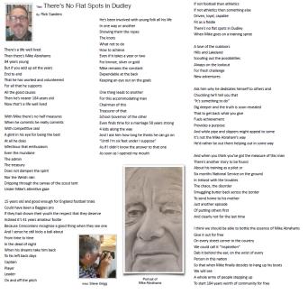 Rick Sanders poem about Mike Abrahams